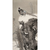 陈薪名 四尺《雪韵》 中美协会员 第六届全国花鸟画展金奖获得者