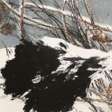 陈薪名 四尺展览作品《雪意方浓》中美协会员 第六届全国花鸟画展金奖获得者