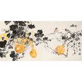 陈薪名 四尺《福禄长远》中美协会员 第六届全国花鸟画展金奖获得者