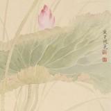 张瑰丽 四尺三开工笔《荷香》 湖南省美术家协会会员