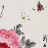 【已售】陈薪名 四尺三开《花开富贵》 中美协会员 第六届全国花鸟画展金奖获得者