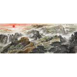 可定制 李碧峰 小六尺《长城万里图》 中国书画家协会理事