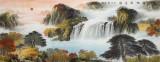 【已售】杨铭昌 小六尺《福地安居图》 安徽山水画研究协会理事