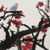 王永刚 斗方小品《赏春》 78岁国家一级美术师