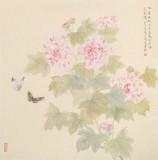张瑰丽 四尺斗方工笔《春花烂漫》 湖南省美术家协会会员