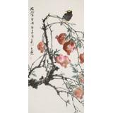 陈薪名 三尺《披翠含丹》中美协会员 第六届全国花鸟画展金奖获得者