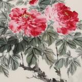 陈薪名 四尺斗方《花开富贵》 中美协会员 第六届全国花鸟画展金奖获得者