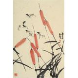 杨劲松 四尺三开《游乐图》 贵州省美术家协会会员