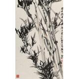杨劲松 四尺三开《迎风劲节》 贵州省美术家协会会员
