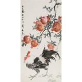 陈薪名 三尺《大吉图》中美协会员 第六届全国花鸟画展金奖获得者
