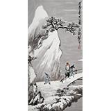 王永刚 三尺《溪山雪弄图》 78岁国家一级美术师