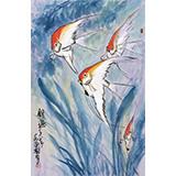 王永刚 四尺三开《银燕》 78岁国家一级美术师