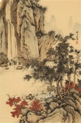 吴显刚 《观瀑图》 贵州七星关美协主席