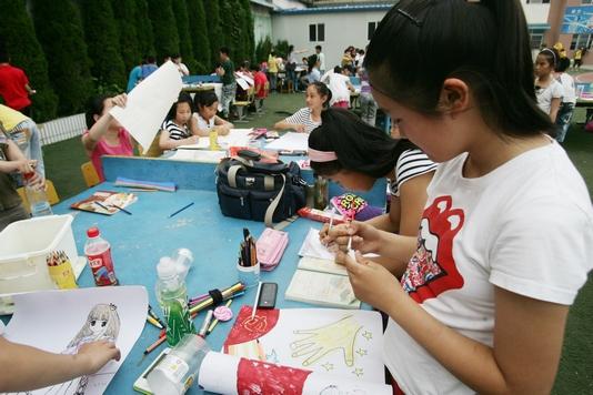 """庆""""六一""""唱响""""中国梦""""书法绘画比赛"""