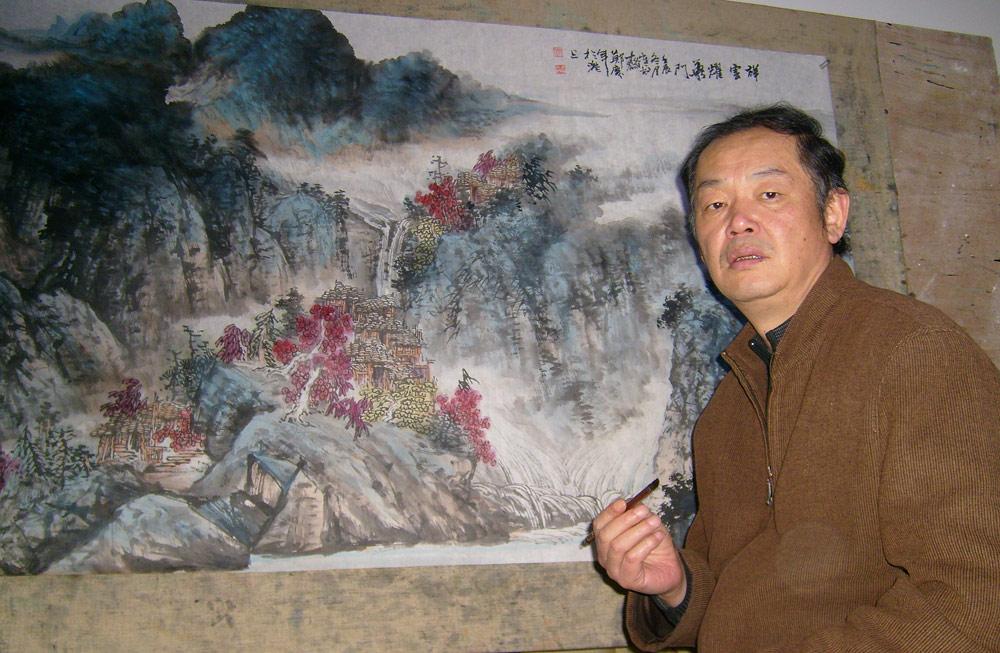 在郑庆年老师画室