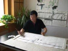 苗雨老师在沈阳春江画院